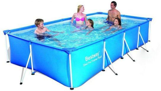 Rectangular frame paddling pool 157 no pump 56405 for Paddling pool filter