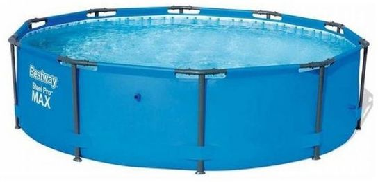 "Bestway Steel Pro Metal Frame Round Pool 10ft x 30"" No Pump - 56406"