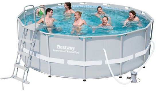 Bestway Steel Pro Silver Metal Frame Round Pool 14ft x 48\