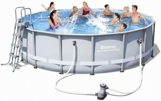 Bestway Power Steel Metal Frame Round Pool 16ft x 48in New ...