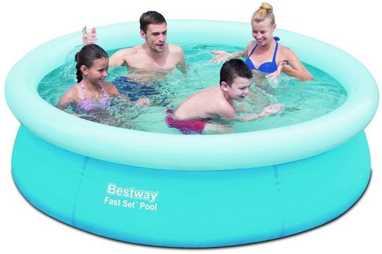 bestway fast set round inflatable pool 78 x 20 no pump 57252. Black Bedroom Furniture Sets. Home Design Ideas
