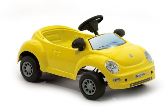 VW NEW BEETLE BABY Yellow Pedal Car