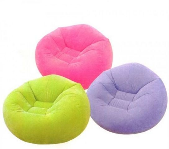 Beanless Bag Inflatable Chair Pack Of 1 Air Beds And
