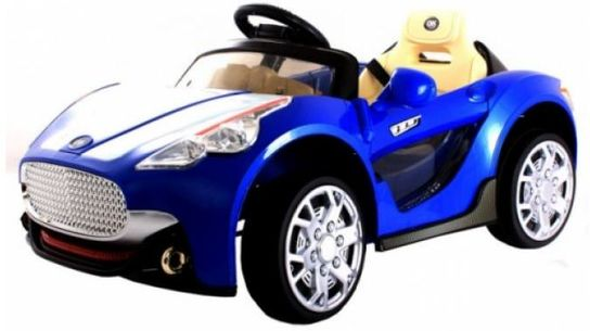 Kids Twin 6V Maserati Style Ride On Car (Blue) With Remote Control