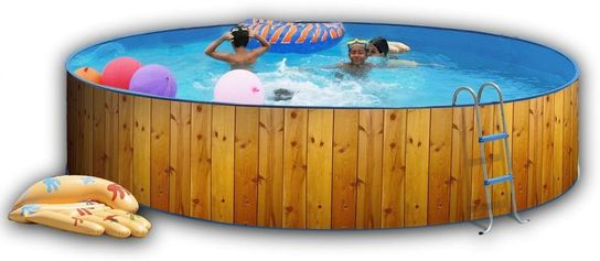 White Coral Wood Effect Pool 3.5m x 0.9m