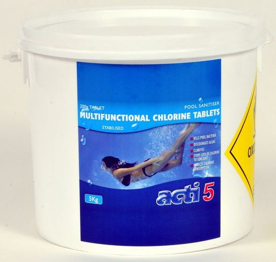Acti 200g Multifunctional Chlorine Tablets 5kg