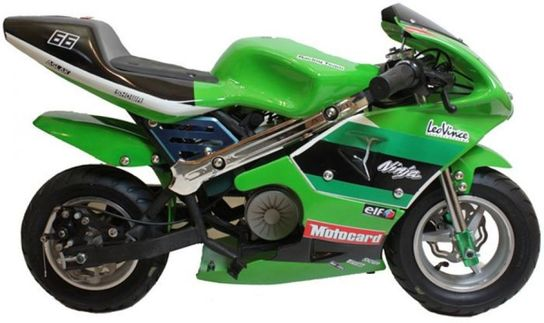 Electric Mini Moto 24V 300W Pocket Bike - Green
