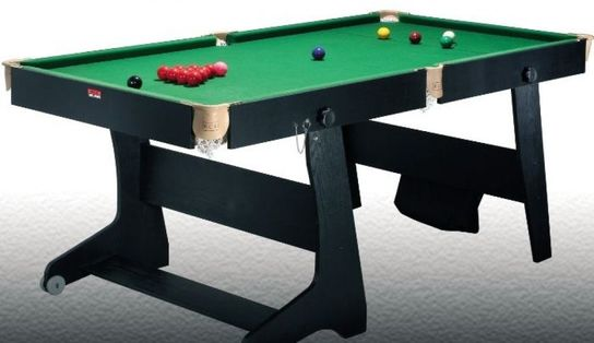 BCE 6ft Folding Snooker/Pool Table (FS-6)