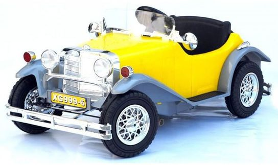 6 Volt Battery Powered Ride On Classic Car GB999-6 - Yellow