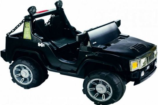 12 Volt Battery Powered Hummer Jeep GBA26 - Black
