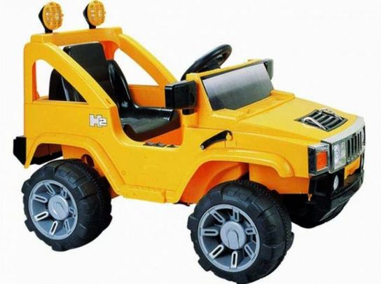 Twin 6 Volt Battery Powered Hummer Jeep GBA30B - Yellow