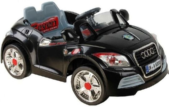 6 Volt Battery Powered Ride On Luxury Car - Black