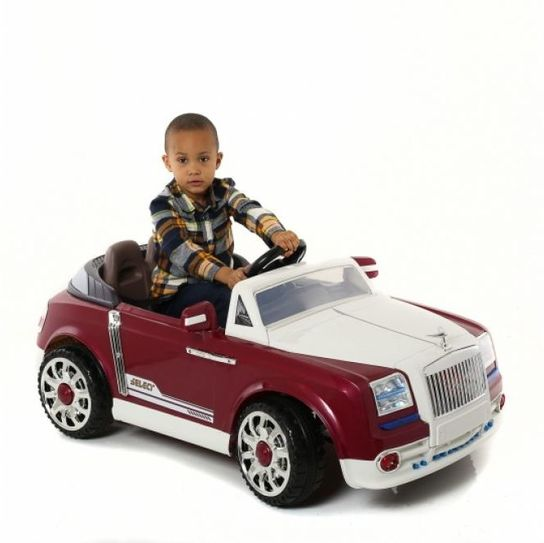 Kids Twin 6V Grand Tourer GT Style Ride On Car (Red) With Remote Control