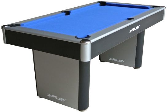 6ft Black Pool Table  by Riley