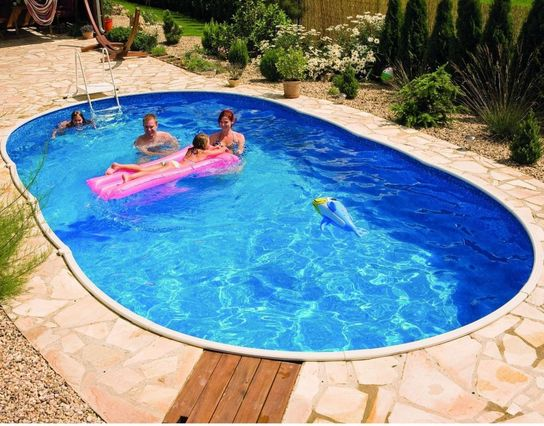 Deluxe Oval Splasher Pool 24ft x 12ft With Sand Filter