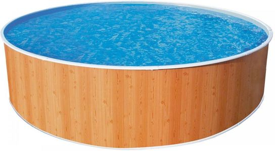 Wood effect splasher pool 10ft x 36 with in pool pump for 10ft swimming pool with pump and cover