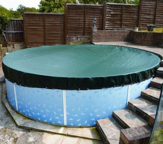 Deluxe Winter Debris Cover For Splasher & Steel Pools 18ft x 33ft Oval