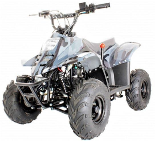 Thunder Cat 110cc 4 Stroke Quad Bike - White Camo