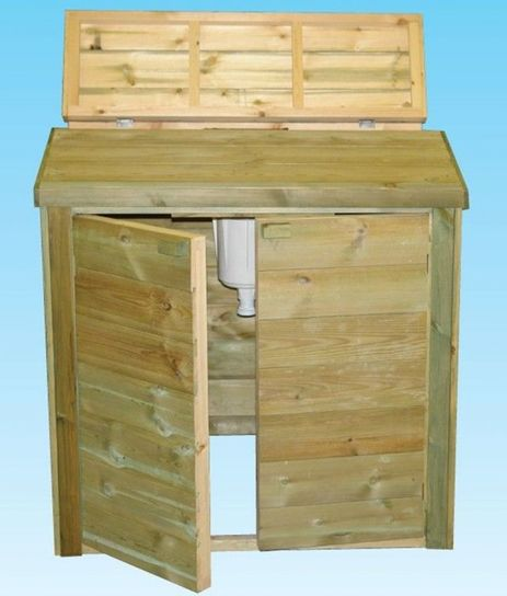 Wooden Pool Filtration Enclosure