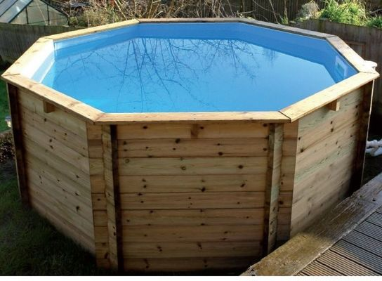 Octagonal Wooden Fun Pool - 10ft x 48in by Plastica