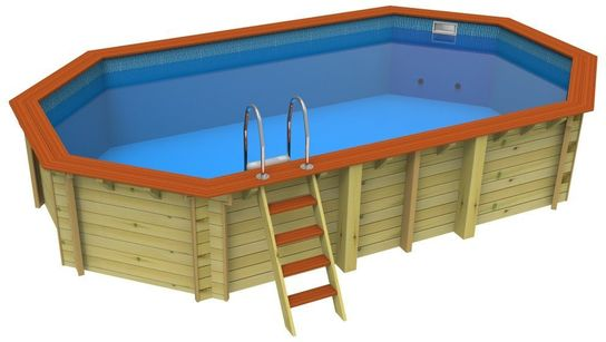 Awesome Plastica Stretched Octagonal Wooden Pool 6.5m X 3.6m Bayswater
