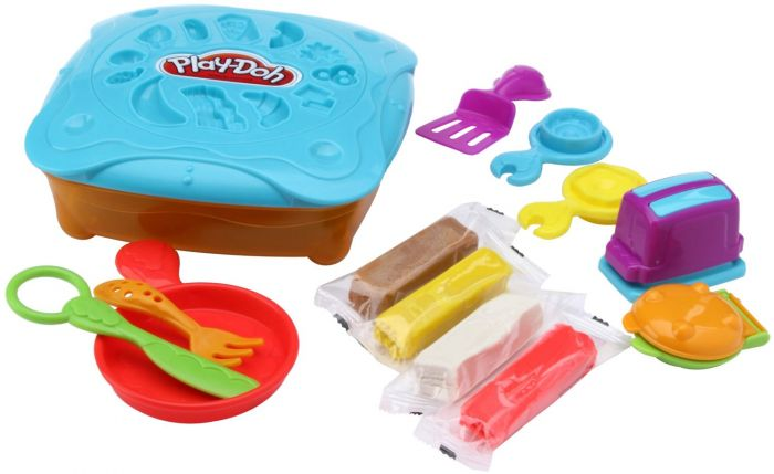 Hasbro play doh favourite food breakfast craft range for Play doh cuisine