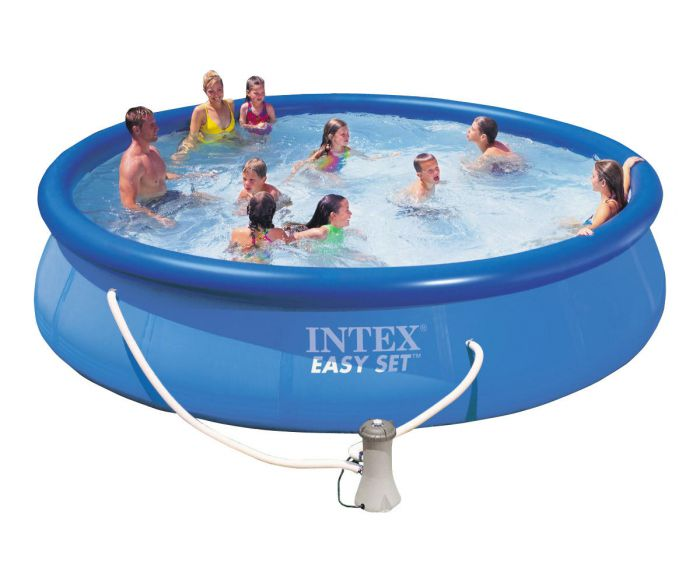 Intex easy set inflatable pool 15ft x 36 28162 - Inflatable quick set swimming pool ...