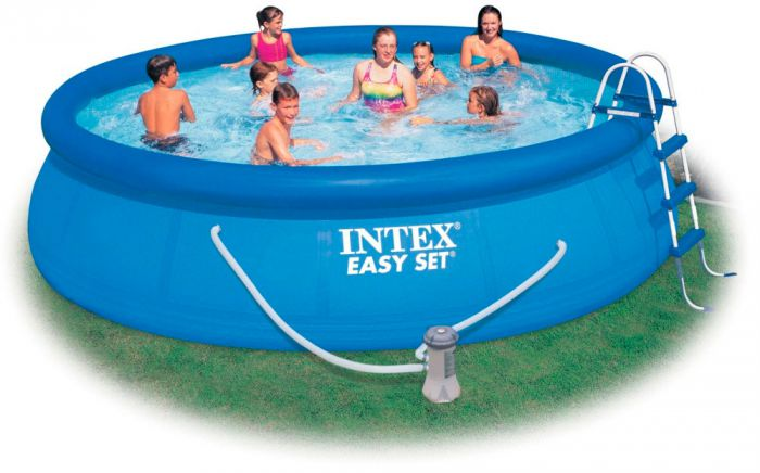 intex easy set inflatable pool package 15ft x 36 28164. Black Bedroom Furniture Sets. Home Design Ideas