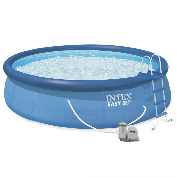 intex easy set inflatable pool package 18ft x 48 28176. Black Bedroom Furniture Sets. Home Design Ideas