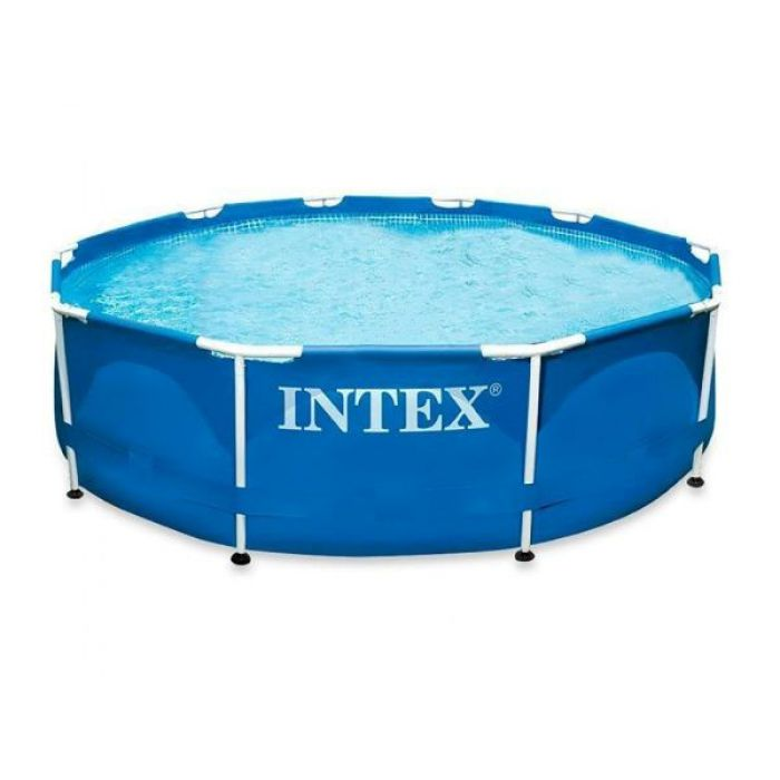 intex metal frame pool 10ft x 30 no pump 28200 metal frame round pools. Black Bedroom Furniture Sets. Home Design Ideas