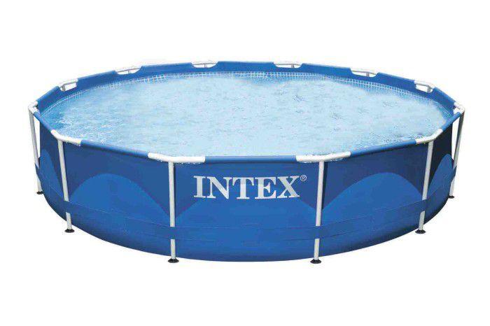 Intex metal frame pool 12ft x 30 no pump 28210 metal frame round pools - Intex 12x30 metal frame pool ...