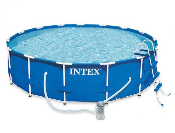 Intex Metal Frame Above Ground Swimming Pool 15 feet x 48