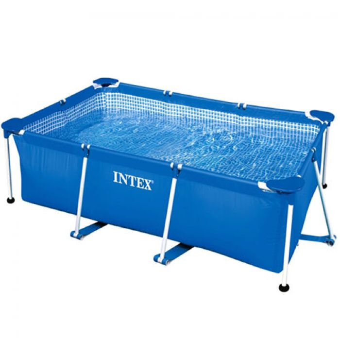 intex metal frame pool with no pump 260cm x 160cm x 208cm. Black Bedroom Furniture Sets. Home Design Ideas