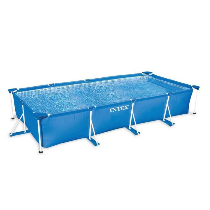 Intex Rectangular Metal Frame Pool No Pump 177 1 4 X 86 5 8 X 33