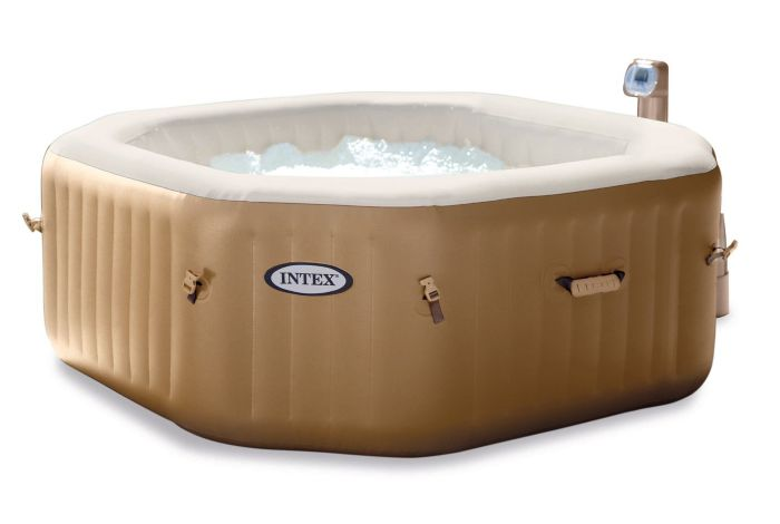 intex purespa octagonal inflatable hot tub. Black Bedroom Furniture Sets. Home Design Ideas