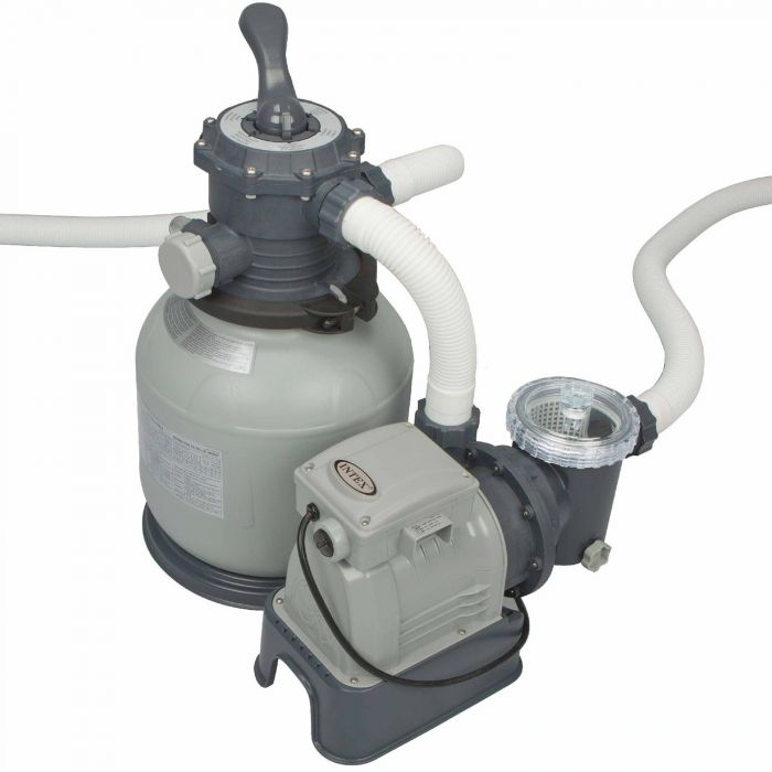 Intex Krystal Clear Sand Filter Pump 2100 Gall Hr Pool Pumps Counter Current