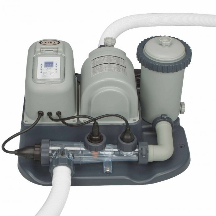 Intex Krystal Clear Saltwater System With Filter Pump For Pools Up To 7 000 Gallons Pool Pumps