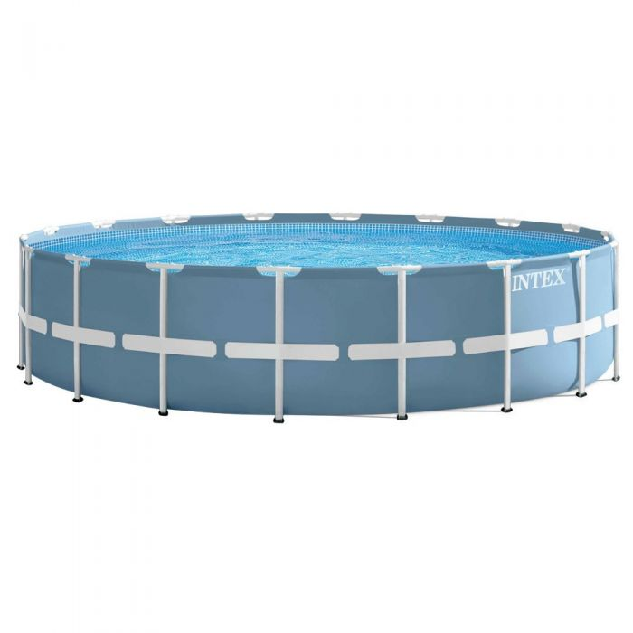 Intex prism metal frame round pool package 18ft x 48in 28752 metal frame round pools - Intex prism frame ...