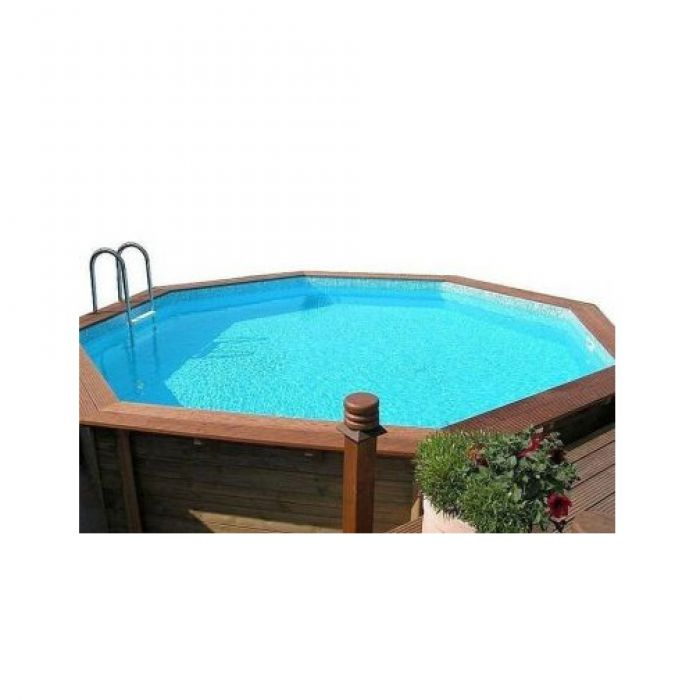 Doughboy octagonal wooden pool wooden pools for Swimmingpool 3m