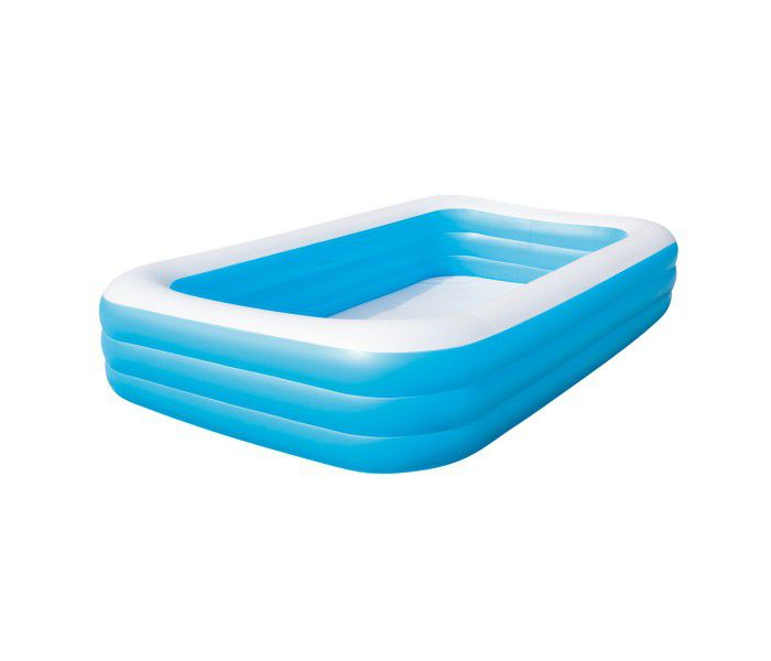 "Blue Rectangular Deluxe Family Paddling Pool 120"" - 54009 Thumnail #0"