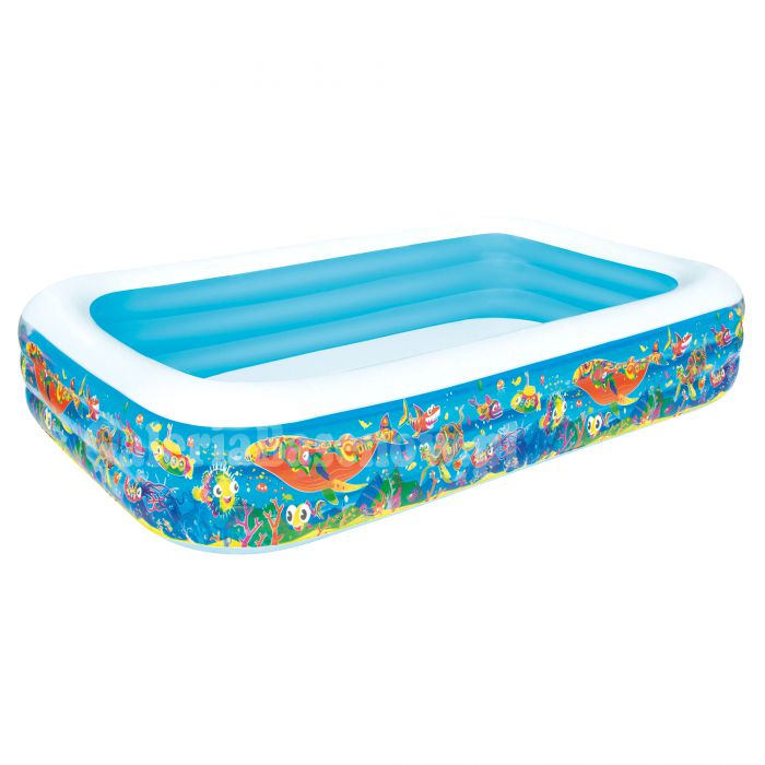 "Aquarium Rectangular Family Paddling Pool 120"" - 54121 Thumnail #0"