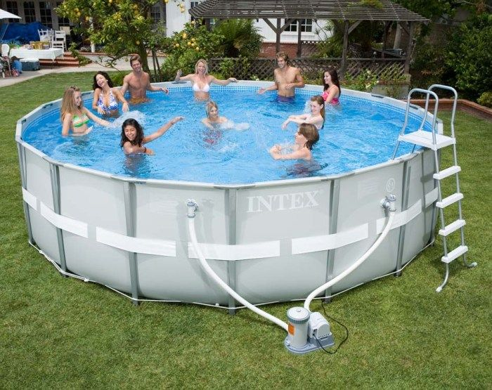intex ultra metal frame round metal pool 16ft x 48 28322 metal