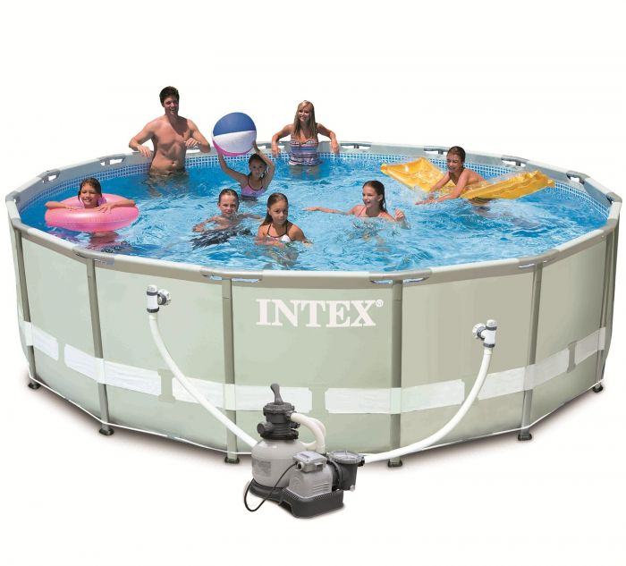 Intex Ultra Metal Frame Round Metal Pool 16ft X 48 With Sand Filter 28324 Metal Frame Round