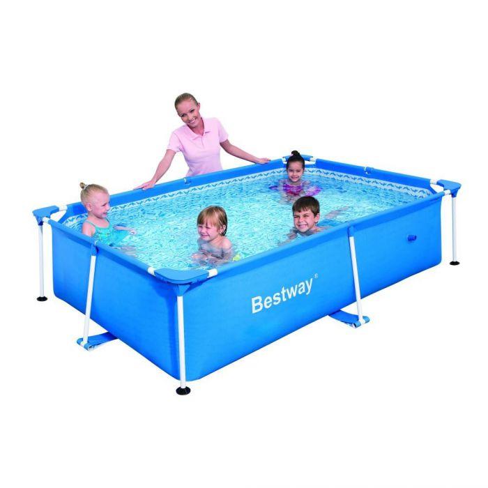 Rectangular frame paddling pool 94 x 59 x 23 bestway for Paddling pool filter