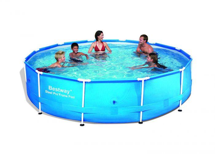 Bestway Steel Pro Metal Frame Round Pool 12ft X 30 No Pump 56415 Metal Frame Round Pools