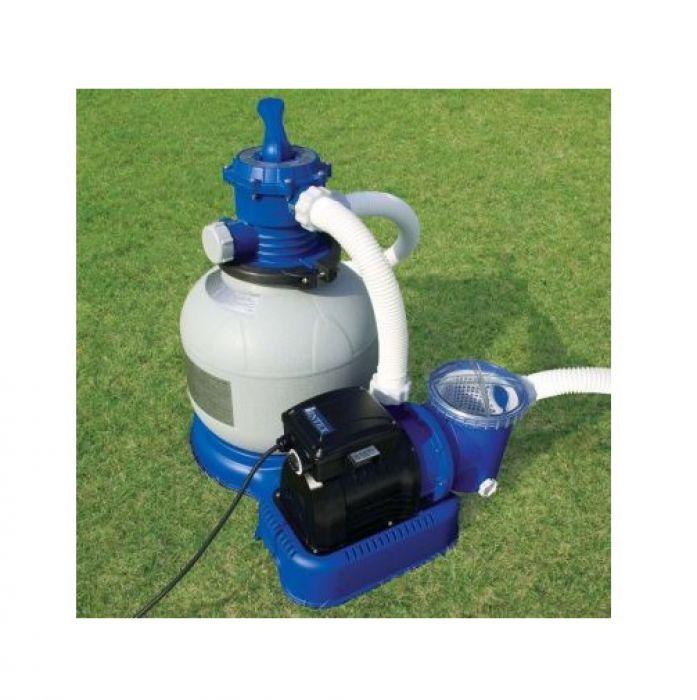 Intex krystal clear sand filter pump 1600 gall hr pool for Swimming pool filter pump motors