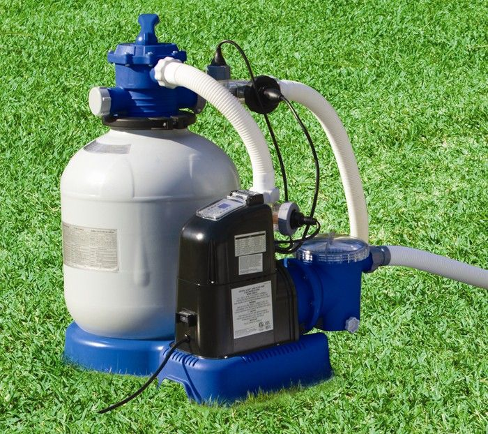 Intex 2650 gall hr krystal clear sand filter pump with for Pond sand filter system