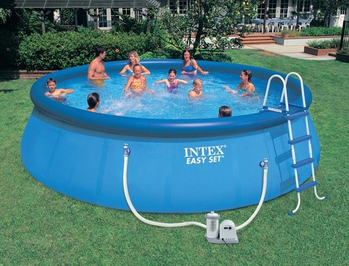 Intex Easy Set Inflatable Pool Package 18ft X 48 Inflatable Pools