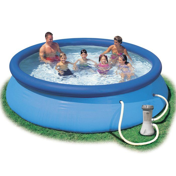 Intex easy set inflatable pool 12ft x 36 28146 for Chlorine piscine