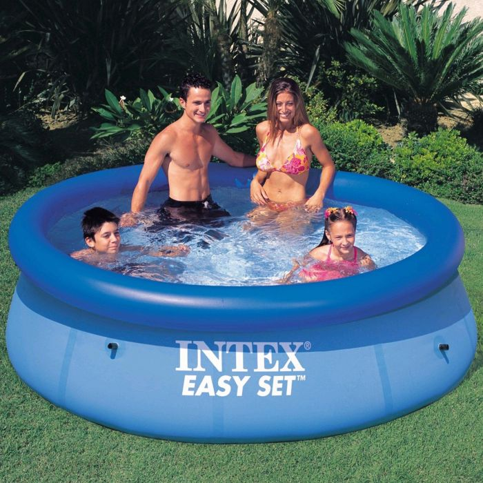 intex easy set inflatable pool 8ft x 30 no pump 28110. Black Bedroom Furniture Sets. Home Design Ideas